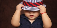 Baby boy hat covered 101537