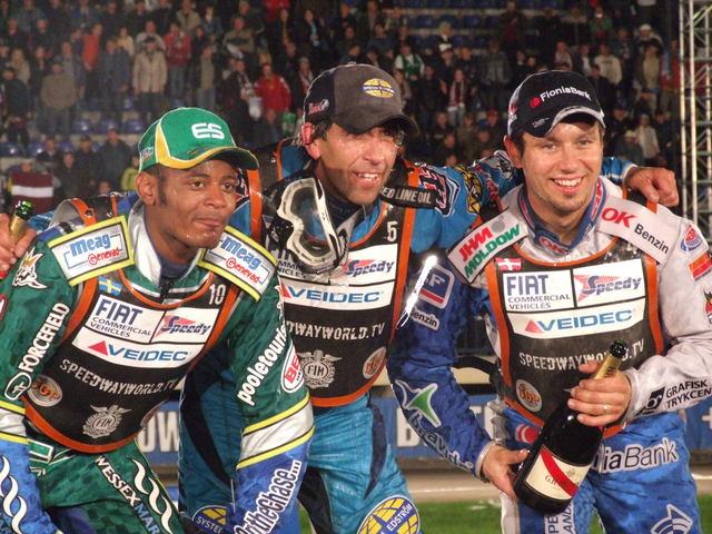 Грег Ханкок, Антонио Линдберг, Ник Педерсен. Гран-при Латвии 2006